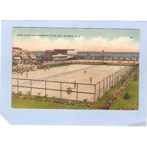 NJ Wildwood Tennis Courts & Boardwalk At Fox Park Wildwood NJ nj_box2~655