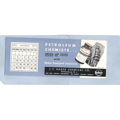 NJ Phillipsburg Blotter Unused J T Baker Chemical Co w/Calendar Page Novem~3601