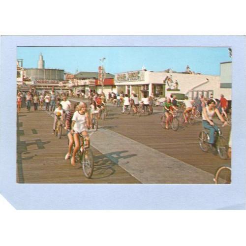 NJ Wildwood By The Sea Bicycle Riders On The Famopus Boardwalk nj_box2~715