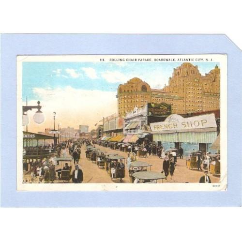 NJ Atlantic City Rolling Chair Parade On Boardwalk nj_box1~84
