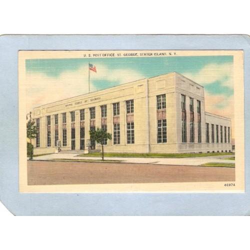 New York St George U S Post Office Street Scene nyc_box2~51