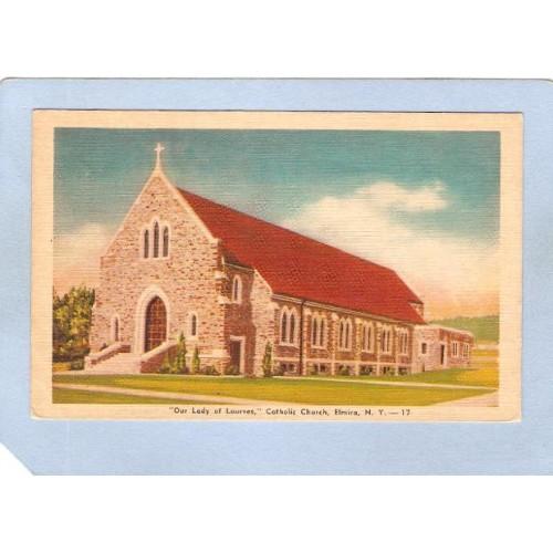 New York Elmira Our Lady Of Lourves Catholic Church ny_box3~1064