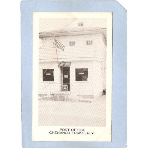 New York Chenango Forks Post Office Photo Type Card ny_box3~1115