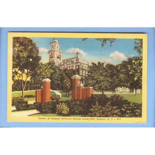 New York Syracuse Campus At Syracuse University Showing Lyman Hall View Ta~144