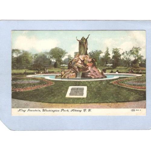 New York Albany King Fountain Washington Park ny_box2~323