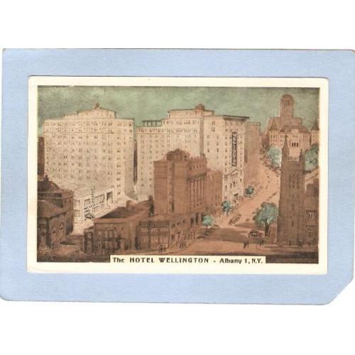 New York Albany Hotel Wellington Street Scene Albanys Only Garage-In Hotel~356