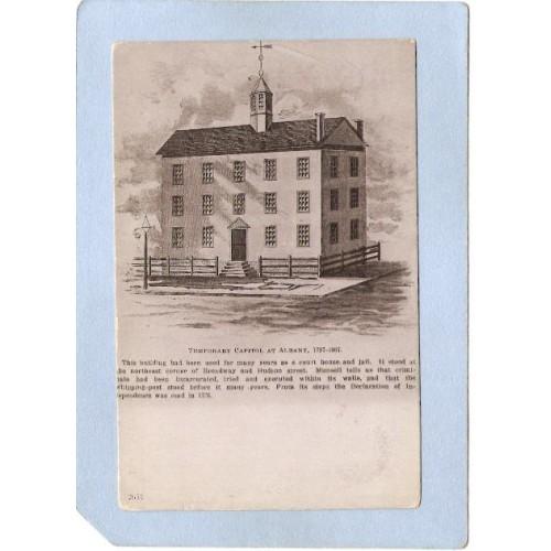 New York Albany Temporary Capitol At Albany 1797-1807 ny_box2~406