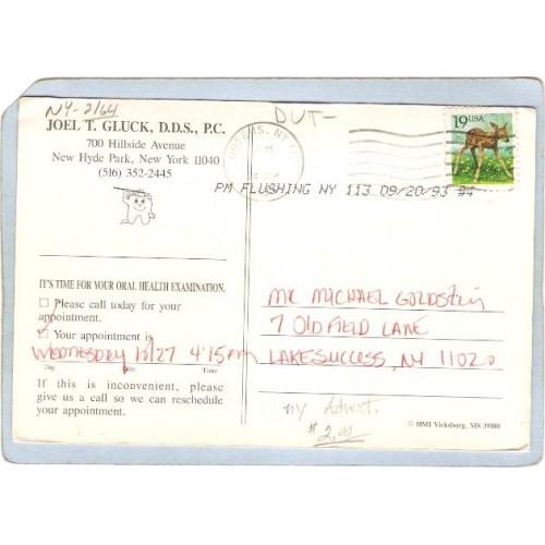 New York Hyde Park Advertising Card Joel T Gluk D D S P C 700 Hillside Ave~2164
