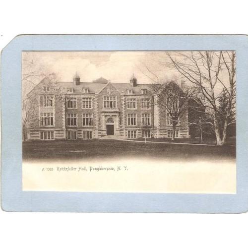 New York Poughkeepsie Rockefeller Hall Vassar College Rotograph Card ny_bo~2299