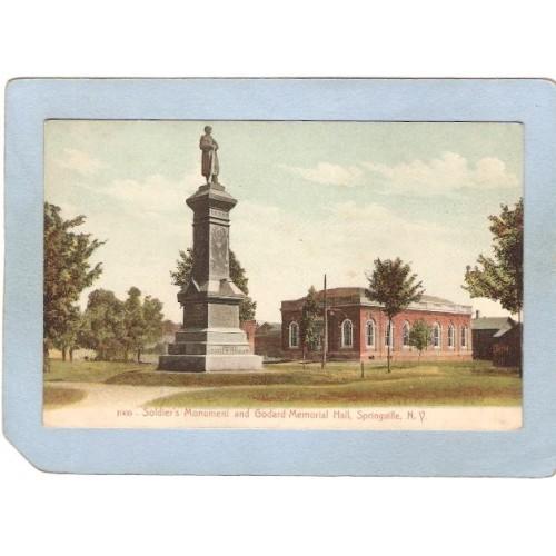 New York Springville Soldier's Monument & Godard Memorial Hall ny_box4~2422