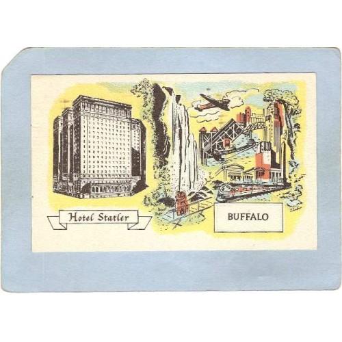 New York Buffalo Hotel Statler 1100 Rooms w/Bath ny_box4~2520