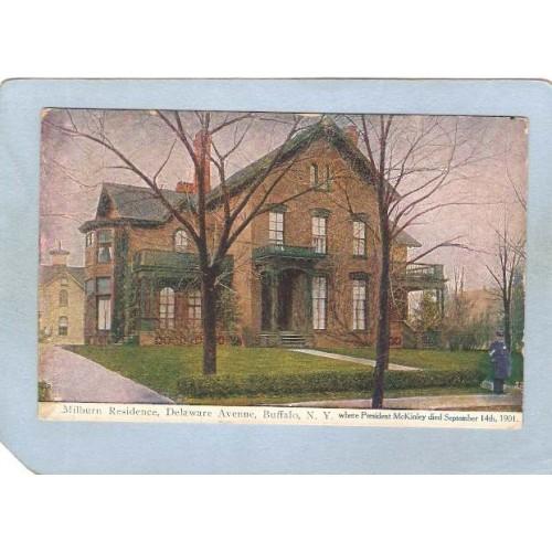 New York Buffalo Milburn Residence Delaware Ave Where Pres McKinley Died S~2568