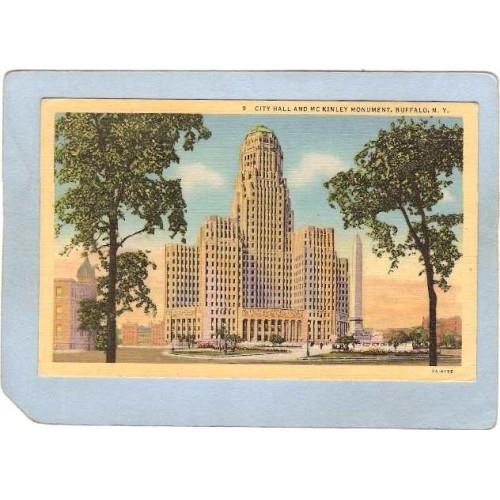 New York Buffalo City Hall & McKinley Monument ny_box4X1~2723
