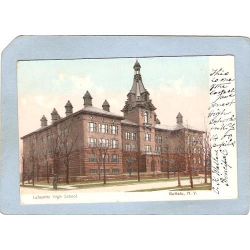 New York Buffalo Lafayette High School Undivided Back ny_box4X1~2762