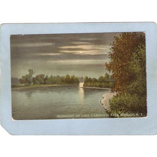 New York Buffalo Moonlight On Lake Cazenovia Park ny_box4X1~2845