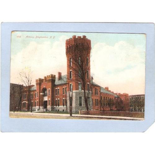 New York Binghamton State Armory Street Scene ny_box2~572