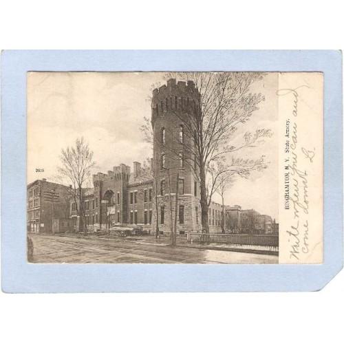 New York Binghamton State Armory Street Scene ny_box2~574