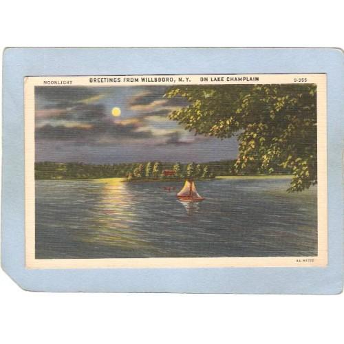 New York Willsboro Greetings From Willsboro N Y On Lake Champlain ny_box5~1416