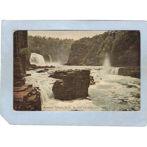 New York Ausable Chasm Rainbow & Horseshoe Falls ny_box5~1447