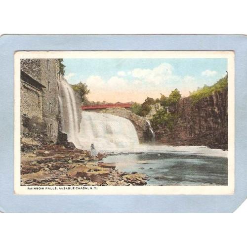 New York Ausable Chasm Rainbow Falls ny_box5~1528