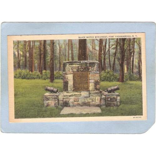 New York Fort Ticonderoga Black Watch Monument ny_box5~1603