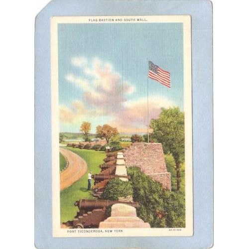 New York Fort Ticonderoga Flag Bastion & South Wall ny_box5~1612