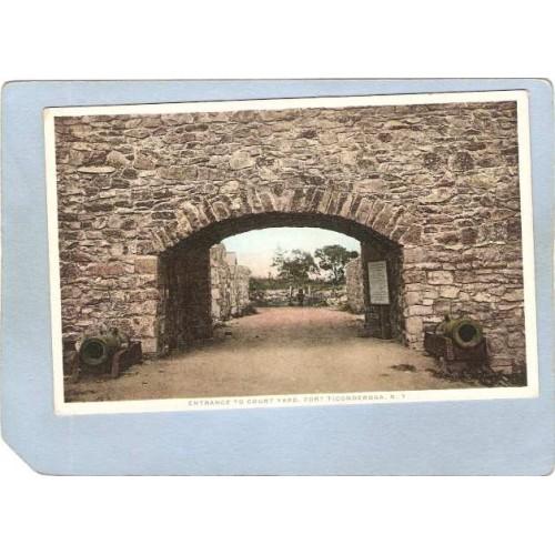 New York Fort Ticonderoga Entrance To Court Yard ny_box5~1618