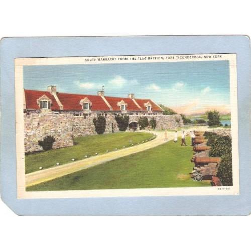 New York Fort Ticonderoga South Barracks From The Flag Bastion ny_box5~1624