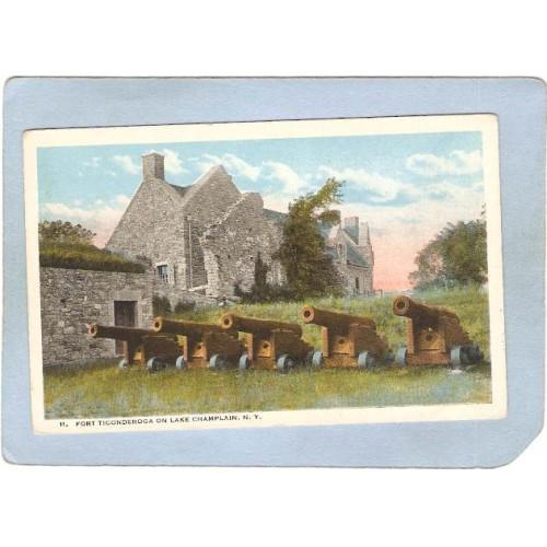 New York Fort Ticonderoga Fort Ticonderoga On Lake Champlain ny_box5~1635