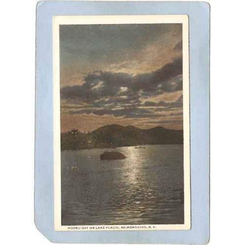 New York Lake Placid Moonlight On Lake Placid ny_box5~1702