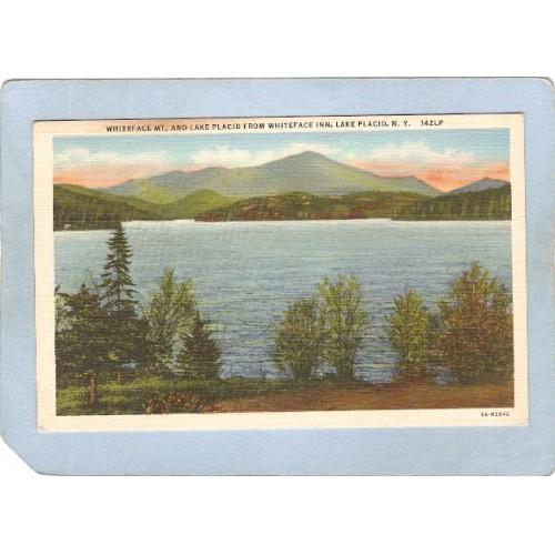 New York Lake Placid Whiteface Mt & Lake Placid From Whitefac Inn ny_box5~1723