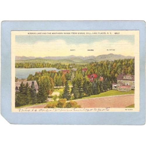 New York Lake Placid Mirror Lake And Southern Range From Signal Hill ny_bo~1733