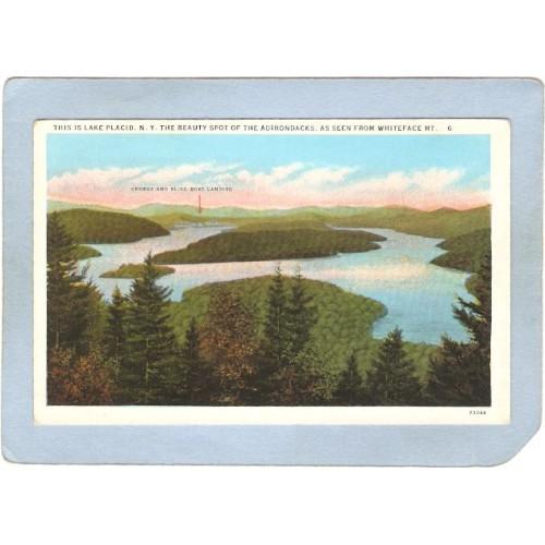 New York Lake Placid Lake Placid From Whiteface Mt ny_box5~1736