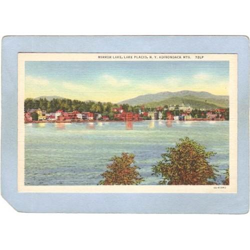 New York Lake Placid Mirror Lake ny_box5~1739