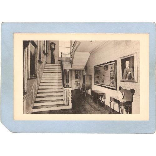 New York Ticonderoga Main Hallway Headquarters House N Y State Historical ~1814