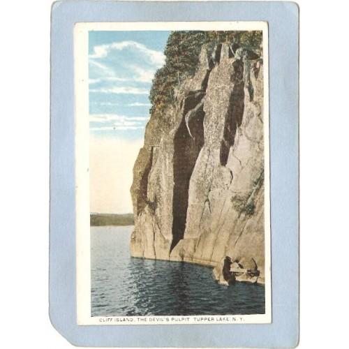New York Tupper Lake Cliff Island The Devil's Pulpit ny_box5~1819