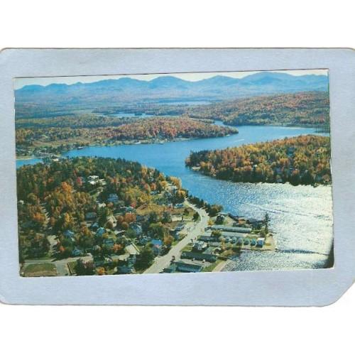 New York Saranac Lake Lake Flower Ave & Lake Flower ny_box5~1915