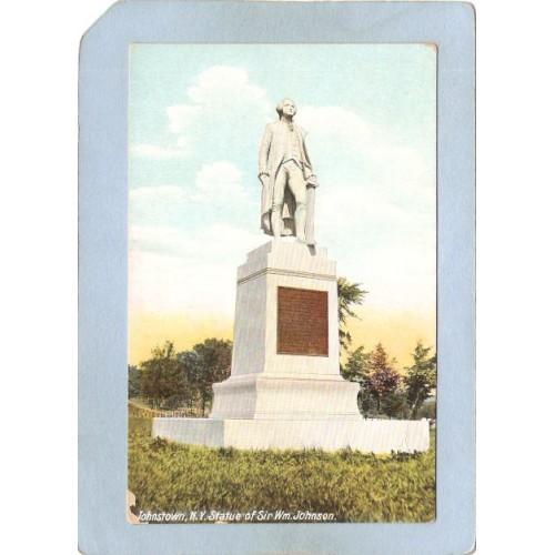 New York Johnstown Statue Of Sir Wm Johnson ny_box5~2026