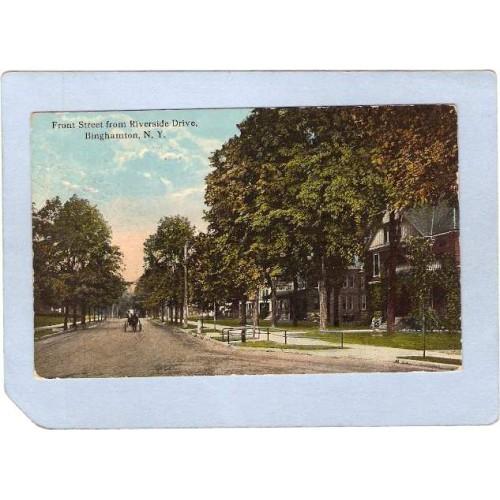 New York Binghamton Front Street From Riverside Drive Street Scene Interse~607