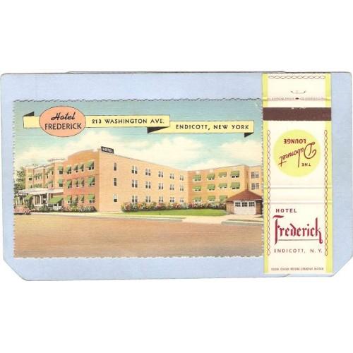 New York Endicott Combo Pack Card Hotel Frederick 213 Washington Ave Match~626