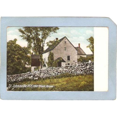 New York St Johnsville Postcard Old Klock House ny_box7~4001