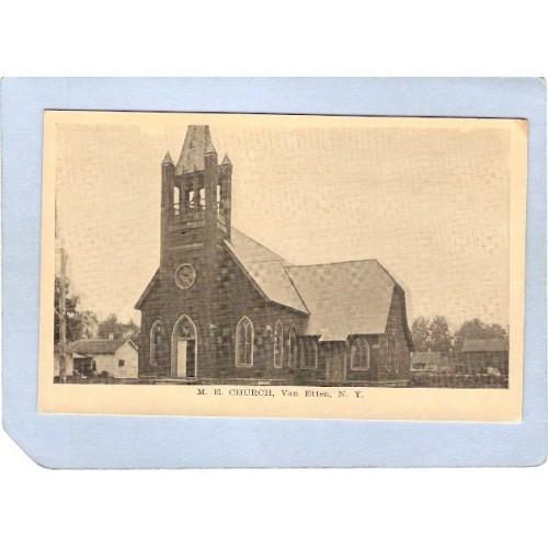 New York Van Etten M E Church Photo Type Card ny_box3~962