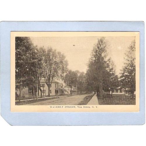 New York Van Etten Waverly Street Street Scene Photo Type Card ny_box3~964