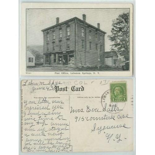 New York Lebanon Springs Post Office Old Buildings~150