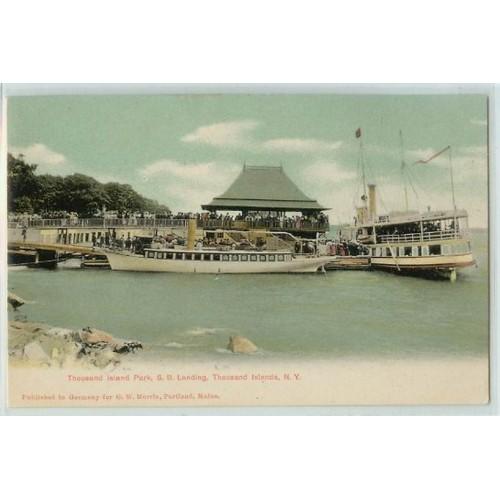 New York Thousand Islands Thousand Island Park S B Landing Large Boats at ~221