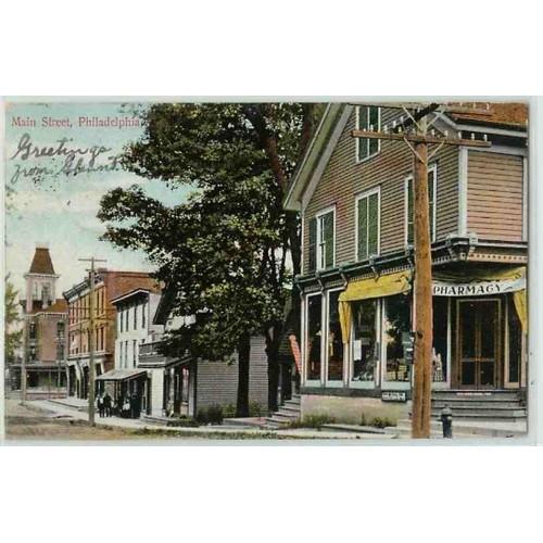 New York Philadelphia Main St Old Buildings~223