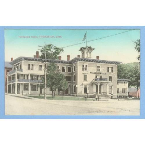 CT Thomaston Thomaston House Street Scene View Of Large Old Hotel Type Bui~683