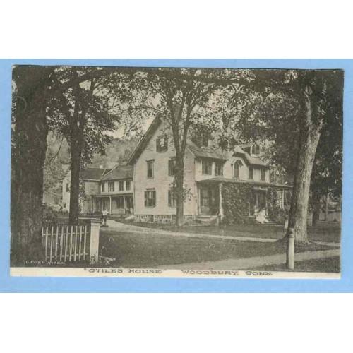CT Woodbury Stiles House Photo Type View Of Large Ivy Covered Tree Shroude~726