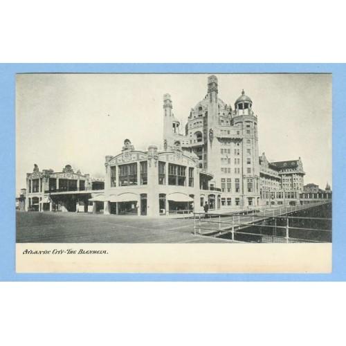 NJ Atlantic City The Blehelm View Of Boardwalk w/Large Fancy Old Buildings~740