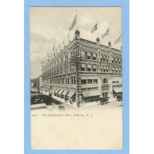 NJ Paterson The Quackenbush Store Photo Type Street Scene Intersection Of ~851